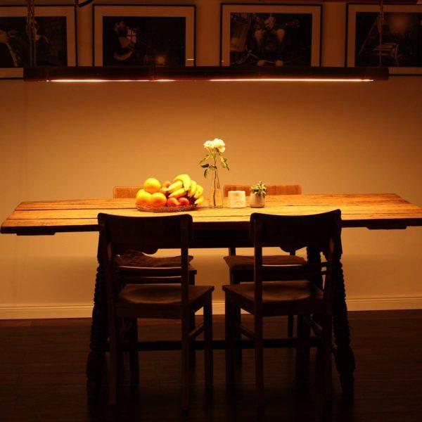 Esstischlampe Bambus Holz für Küche