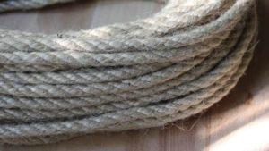 Jute-Seil, Durchmesser 6mm, mit Höhenverstellung