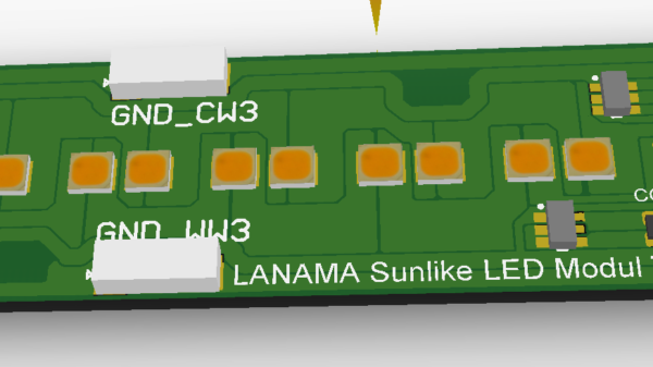 Lanama Sunlike LED-Modul, 3D CAD Darstellung