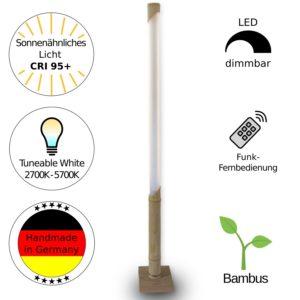 Design LED Lampe aus Bambus - Handarbeit aus Deutschland