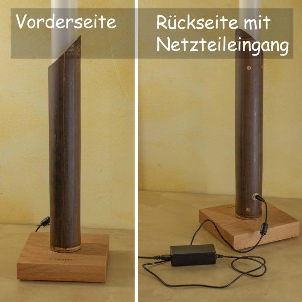 Lanama Vollspektrumlampe Bambus Wulung, weißdynamisch, Ansicht Vorne-Hinten