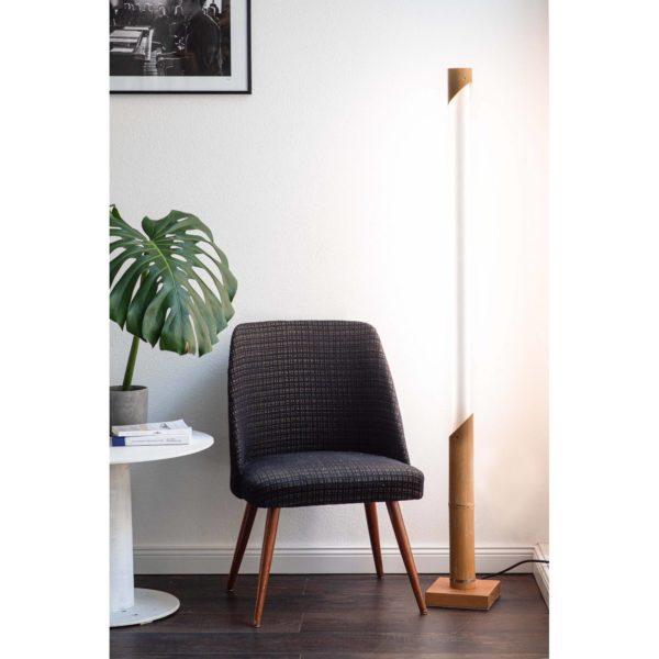 Bambus LED Stehleuchte Wohnzimmer