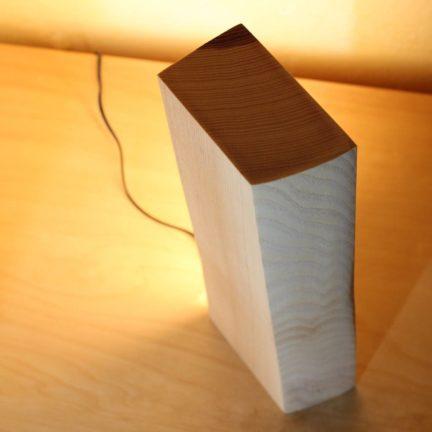 Vollspektrum Tischleuchte Holz Esche 32cm Höhe